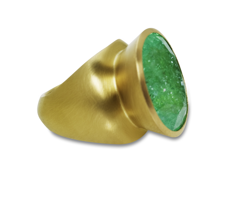 Ring, 900er, Gelbgold, Paraiba Turmalin