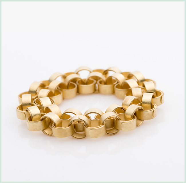 Wickelarmband, 750er, Gelbgold, 01